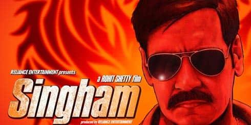 Ajay Devgan in Singham Poster 2
