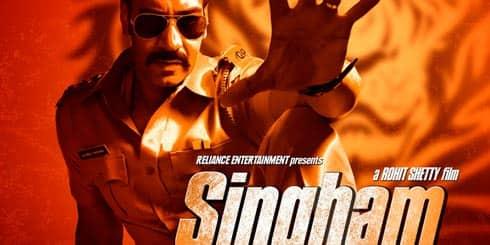 Ajay Devgan in Singham Poster 3