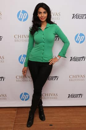 Mallika Sherawat attends the Variety Studio at Chivas House in Cannes