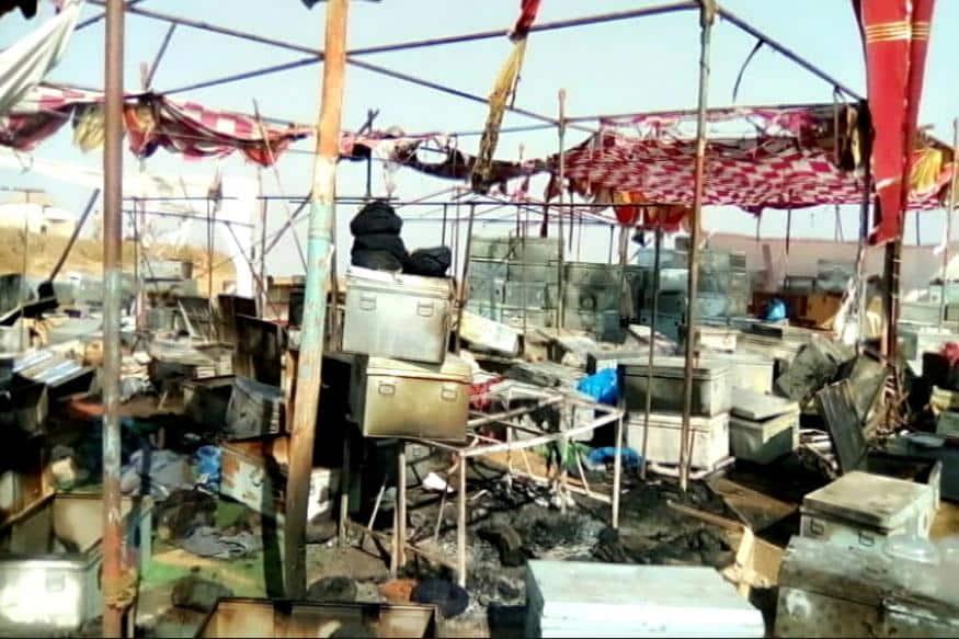 कोहलापुर में फिल्म 'पद्मावती' के सेट्स पर लगी आग !