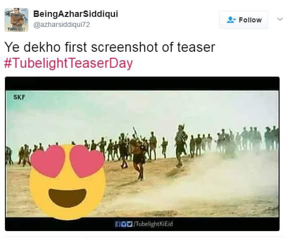 सलमान खान की फिल्म 'ट्यूबलाइट' का टीज़र रिलीज़ से पहले ही हुआ हिट !