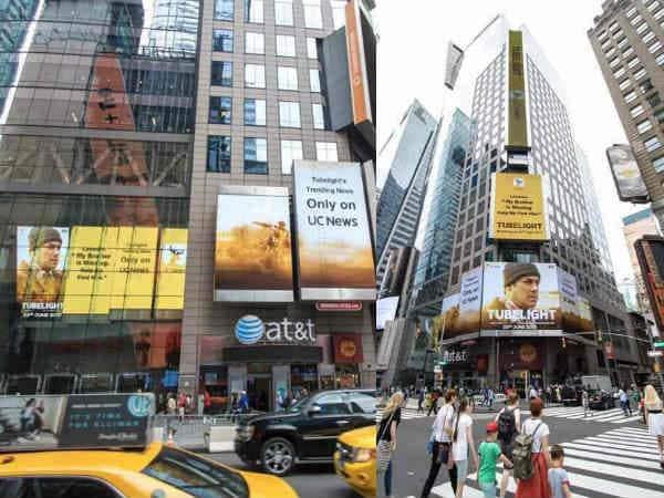 न्यूयॉर्क के टाइम्स स्कॉवर पर छा गया सलमान की फिल्म 'ट्यूबलाइट' का पोस्टर !