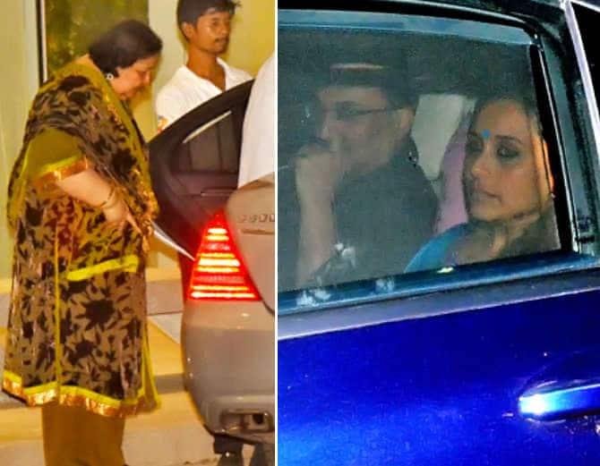 तस्वीरें: पति आदित्य और सास के संग डिनर डेट पर गई रानी मुखर्जी !