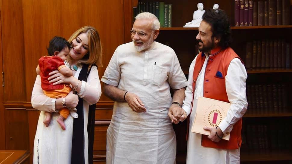 3 महीने की बेटी को लेकर पीएम मोदी से मिलने पहुंचे सिंगर अदनान सामी, पीएम ने भी ऐसे किया बेटी का स्वागत !