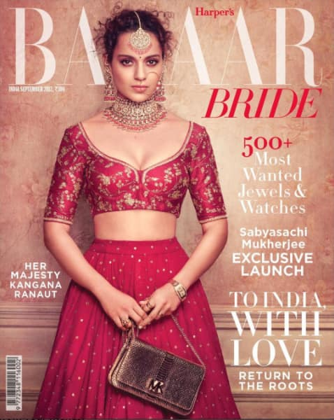 In Pictures: Kangana Ranaut Looks Like a Maharani In Harper's Bazar Bride Photoshoot