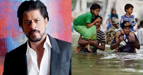 चेन्नई बाढ़  प्रभावितों लिएके लिए शाहरुख़ ने दिए 1 करोड़ रुपये