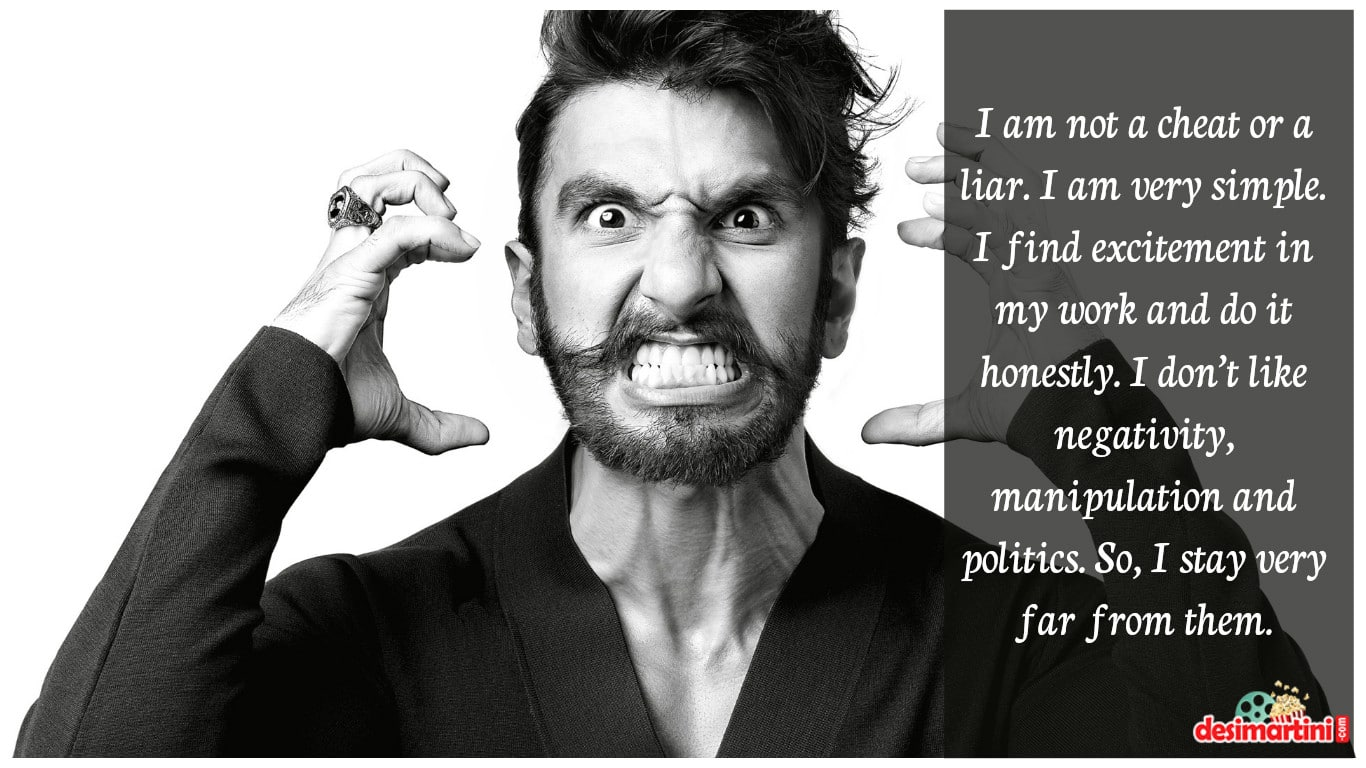16 Quotes From The New Age Love Guru Ranveer Singh!