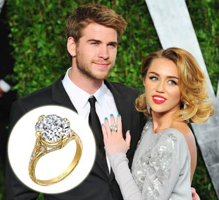 to wear - Cyrus miley and liam hemsworth engaged video