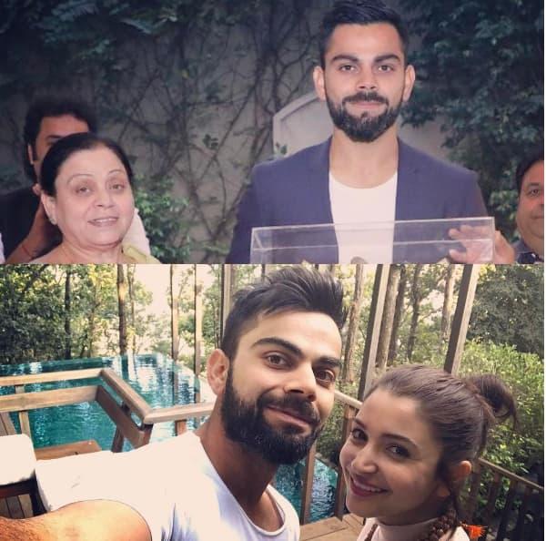 कुछ इस अंदाज़ में विराट कोहली ने अपनी माँ और अनुष्का शर्मा को दी महिला दिवस की शुभकामनायें !