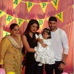 Here's How Harbajan Singh And Geeta Basra's Daughter Hinaya Celebrated Her 1st Birthday!