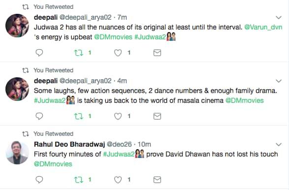 ऑडियंस मूवी रिव्यू : कैसी है वरुण धवन की फिल्म 'जुड़वा 2'?