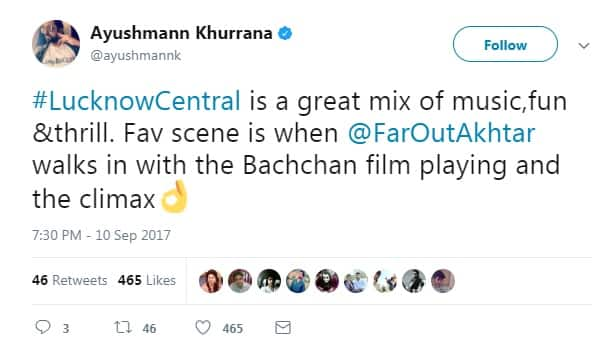 Lucknow Central: Bollywood Celebs Give Rave Reviews to Farhan Akhtar Starrer