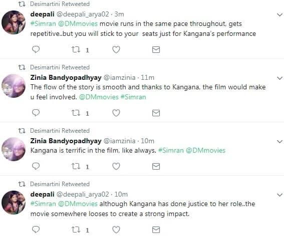 Audience Movie Review: Simran