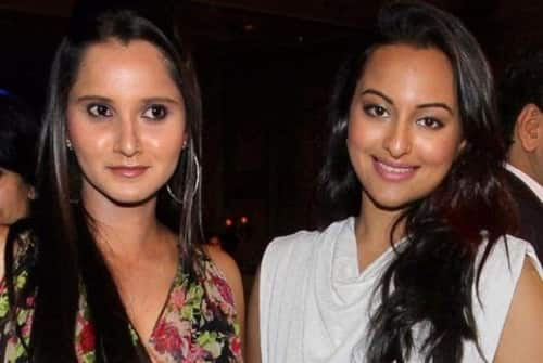 Photo of Sonakshi Sinha & her friend  Sania Mirza