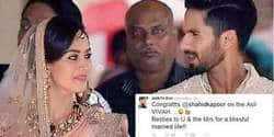 Bollywood Celebs Wish Shahid And Mira On Twitter