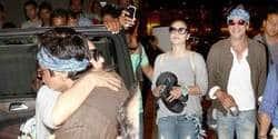 Spotted: Shah Rukh Khan And Kajol Return From Bulgaria!