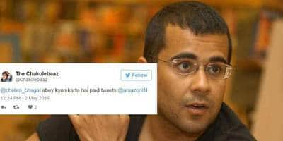 Twitter's Reaction To Chetan Bhagat Making It To Amazon's Best Reads Will Crack You Up!