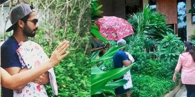शाहिद कपूर - मीरा राजपूत की तसवीरें अपनी बेटी के साथ ये रहीं !