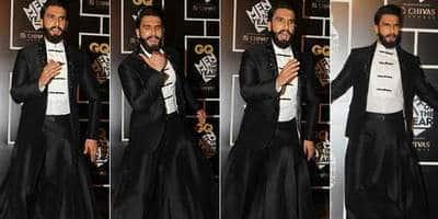 ये क्या ? रणवीर सिंह घाघरा पहन कर पहुँचे अवार्ड शो में ?