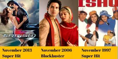 बॉलीवुड की ये 19 फ़िल्में बताती हैं कि नवम्बर का महीना ब्लॉकबस्टर्स का है !