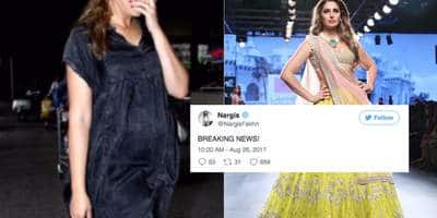 Nargis Fakhri Reacts On Rumours Of Her Pregnancy!