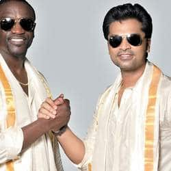 Simbu makes Akon wear dhoti for Love Anthem music video