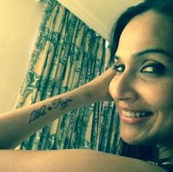 Superstar's daughter Soundarya has got Rajinikanth tattoo!