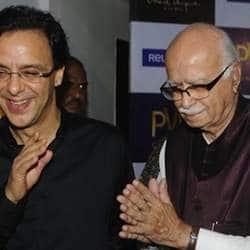 LK Advani attends Ferrari Ki Sawari screening at Delite cinema