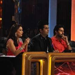 Abhishek shows Beti Bs pics to Jhalak judge Madhuri Dixit