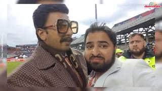 Ranveer Singh Fan-Boying during India vs Pakistan World Cup Match