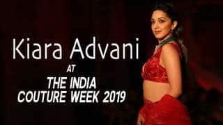 Kiara Advani Turns Heads At The India Couture Week 2019