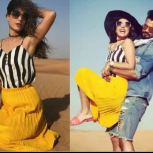 Tv actress hina khan holidaying with boyfriend rocky jaiswal in duba photo