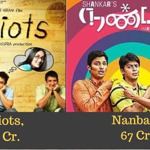 Hit Bollywood Films And The Box Office Collection Of South Indian Remakes