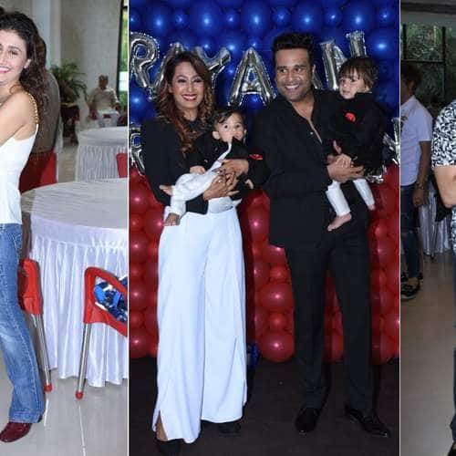 Bollywood And TV Celebs At Krushna Abhishek And Kashmeera Shah's Twins Birthday Party