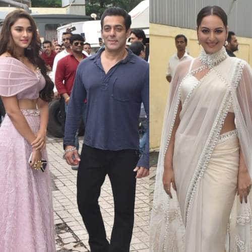 Spotted: Salman Khan Poses WIth Saiee Manjrekar At Dabangg Trailer Launch, Housefull 4 Cast Promote The Film!