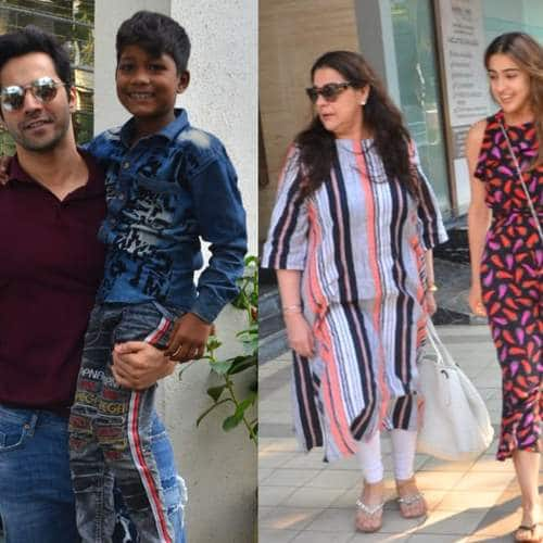 Spotted: Sara Ali Khan Goes Out With Mom Amrita, Varun Dhawan Poses With A Kid!