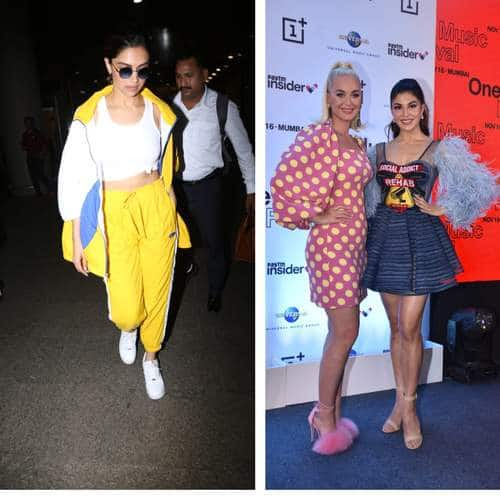 Spotted: Deepika Padukone Raises The Temperature At The Airport, Katy Perry And Jacqueline Fernandez Pose Together