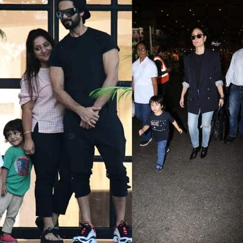 Spotted: Kareena Kapoor And Taimur Ali Khan Twin In Black Returning From Australia, Shahid Kapoor Gets Clicked With Fans