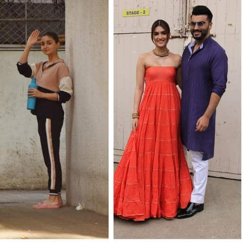 Spotted: Alia Bhatt Keep Up With Her Workout Sessions, Arjun-Kriti Continue Promoting Panipat