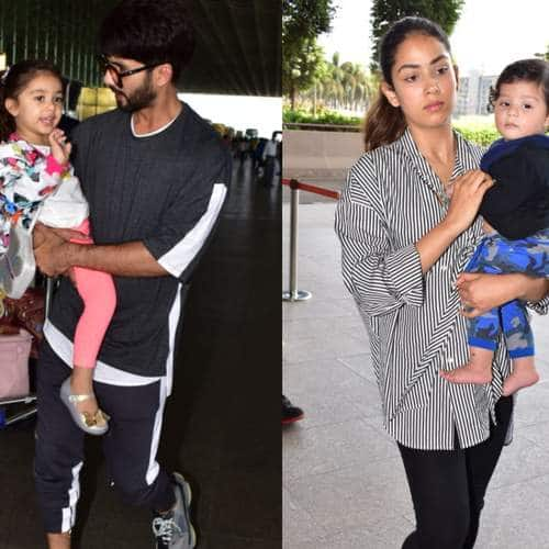 Spotted: Shahid -Mira Spotted With Their Kids, Fatima And Janhvi Kapoor Look Summer Perfect!