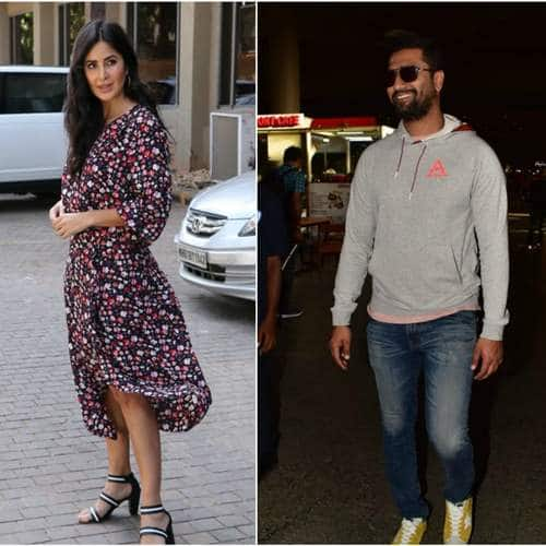 Spotted: Vicky Kaushal Arrives Back From Dubai, Katrina Kaif Looks Amazing As She Promotes Bharat!