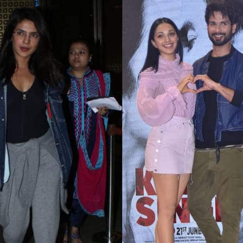 Spotted: Shahid-Kaira Seen Launching A Song From Their Film, Priyanka Chopra Back In India!