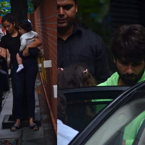 Spotted: Shahid And Mira Go Out With Kids, Varun Dhawan Leaps Out Of His Car!