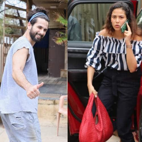 Spotted: Shahid Kapoor Keeps It Cool For Workout While Mira Rajput Rocks Stripes On Her Day Out!