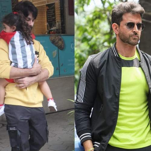 Spotted: Shahid Kapoor Carries Misha On His Lap, Hrithik Stuns In Neon!