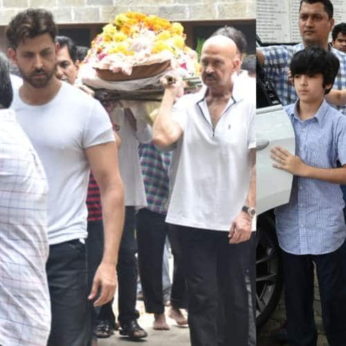 Bollywood Celebs Arrive To Pay Their Last Respect To Hrithik Roshan's Grandfather. See Pictures...