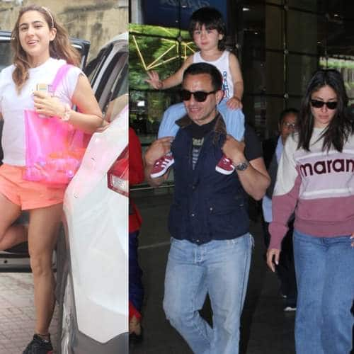 Spotted: Taimur Arrives On Dad Saif's Shoulders Wavinng, Sara Ali Khan And Janhvi Kapoor Show Us How To Be Cool At The Gym!