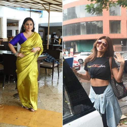 Spotted: Akshay, Taapsee And Vidya Promotes Mission Mangal, Shilpa Shetty Ducks From The Rain