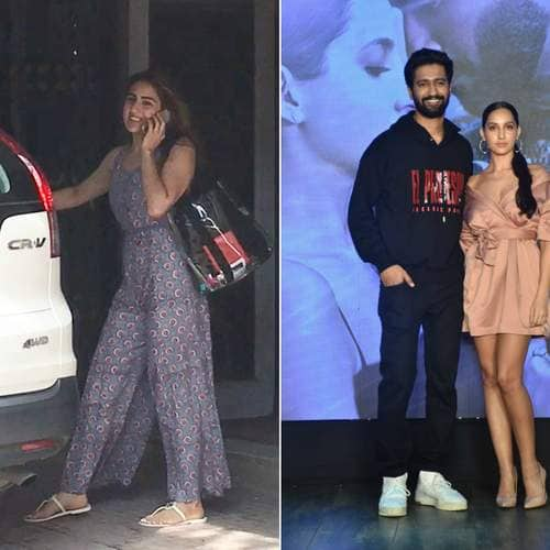Spotted: Kartik Aaryan And Sara Alia Khan Spotted About Town, Vicky Kaushal And Nora Fatehi Celebrate The Success Of Pachtaogey