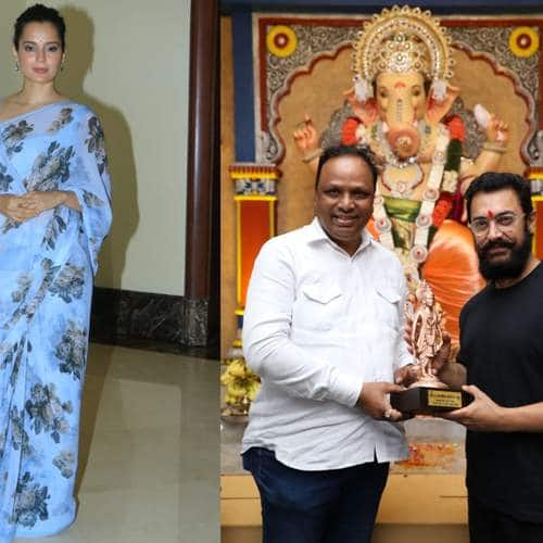 Spotted: Aamir Khan, Sonam Kapoor Busy In Ganpati Darshan, Kangana Ranaut Joins Cauvery Campaign!